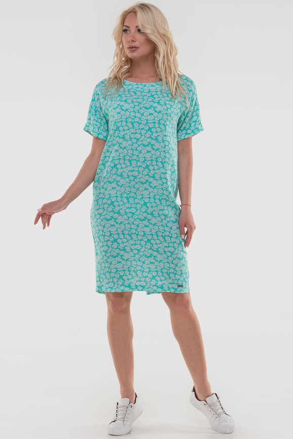 Летнее платье  мешок мятного цвета 2794-3.84|интернет-магазин vvlen.com