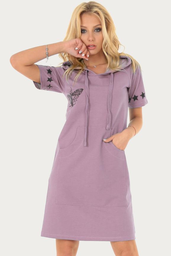Спортивное платье  розового цвета 222br|интернет-магазин vvlen.com