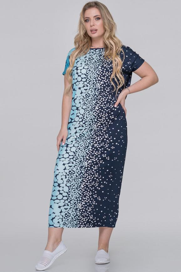 Летнее платье оверсайз синего тона цвета интернет-магазин vvlen.com