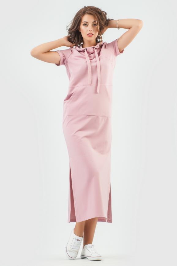 Спортивное платье  темно-розового цвета 6009-1|интернет-магазин vvlen.com