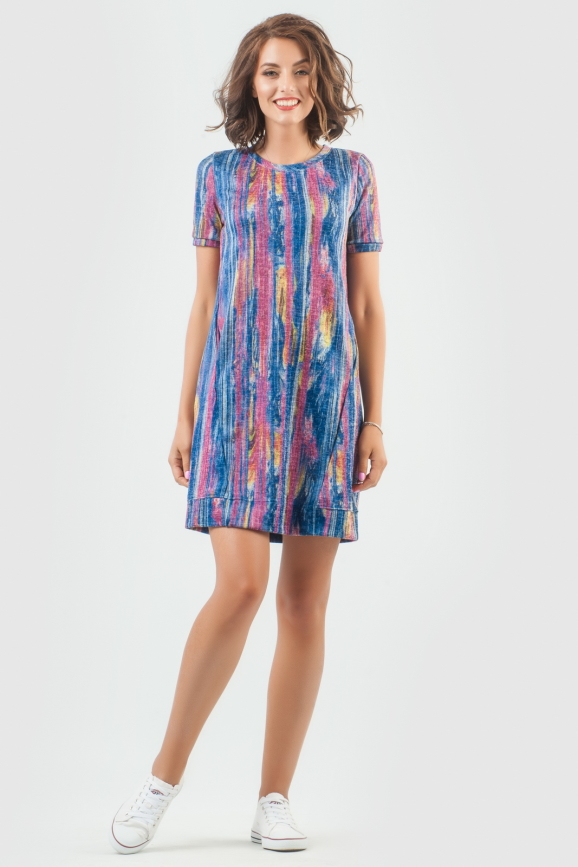 Спортивное платье  радуги цвета 6001-1|интернет-магазин vvlen.com