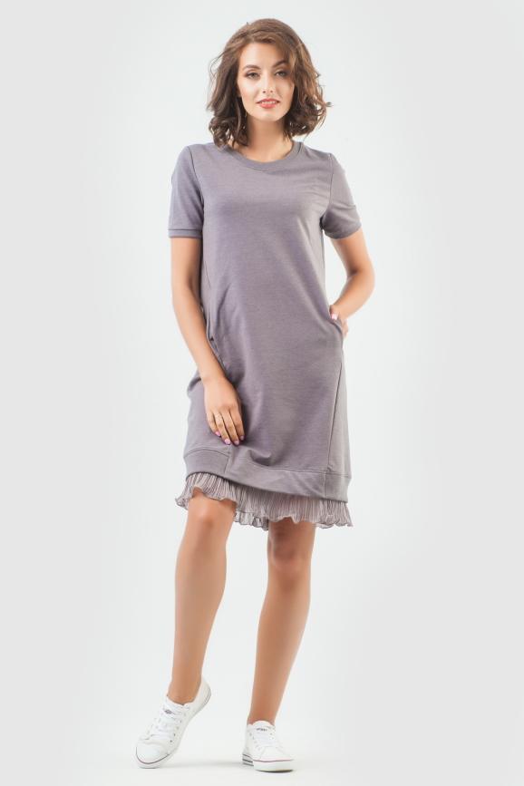 Спортивное платье  светло-фиолетового цвета 6001-2|интернет-магазин vvlen.com