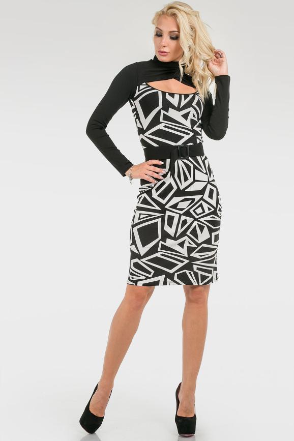 Неординарное трикотажное платье|интернет-магазин vvlen.com