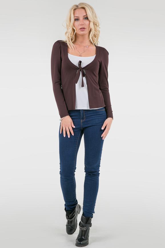 Блуза коричневого цвета|интернет-магазин vvlen.com