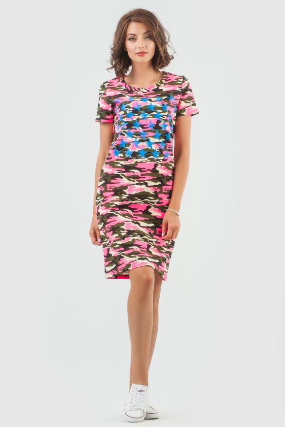 Спортивное платье  розового цвета 6003-1|интернет-магазин vvlen.com