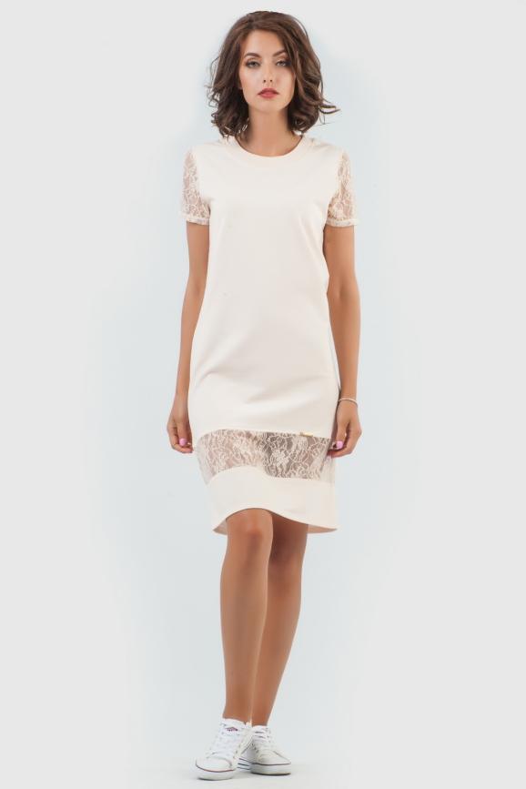 Спортивное платье  пудры цвета 6003-3|интернет-магазин vvlen.com