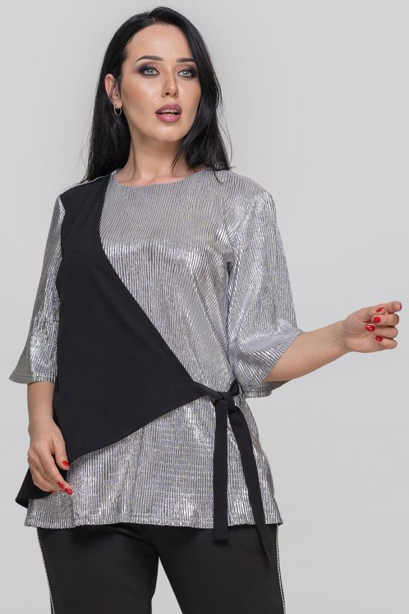 Блуза  серебристого цвета интернет-магазин vvlen.com