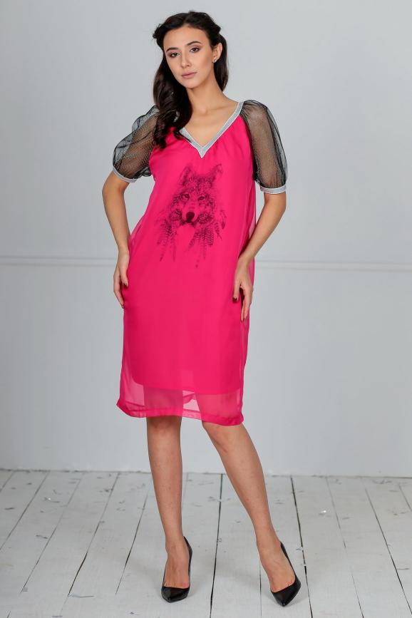 Клубное платье балахон малинового цвета kl  192|интернет-магазин vvlen.com
