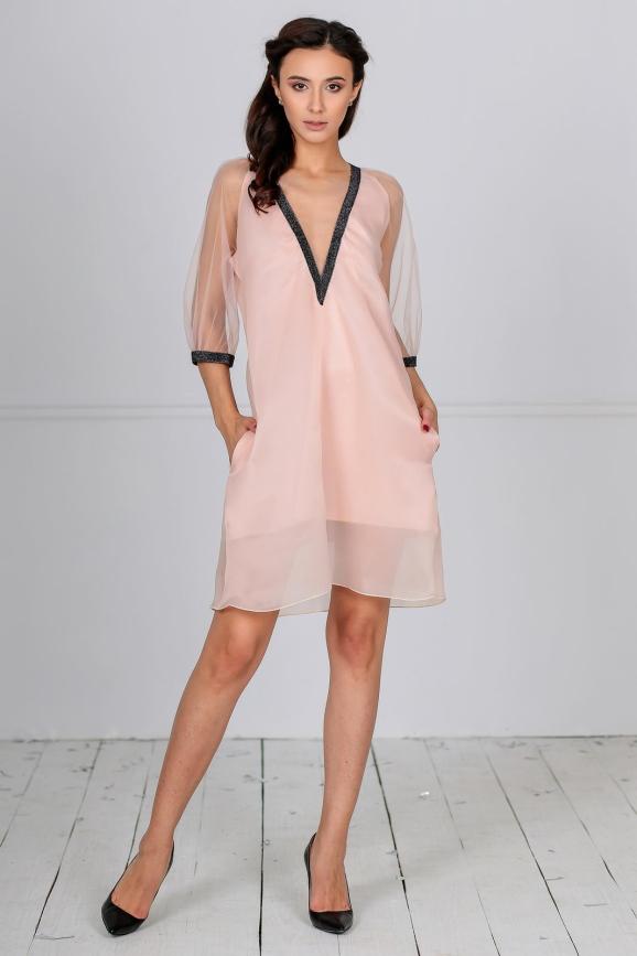 Клубное платье трапеция золотистого цвета kl  194|интернет-магазин vvlen.com
