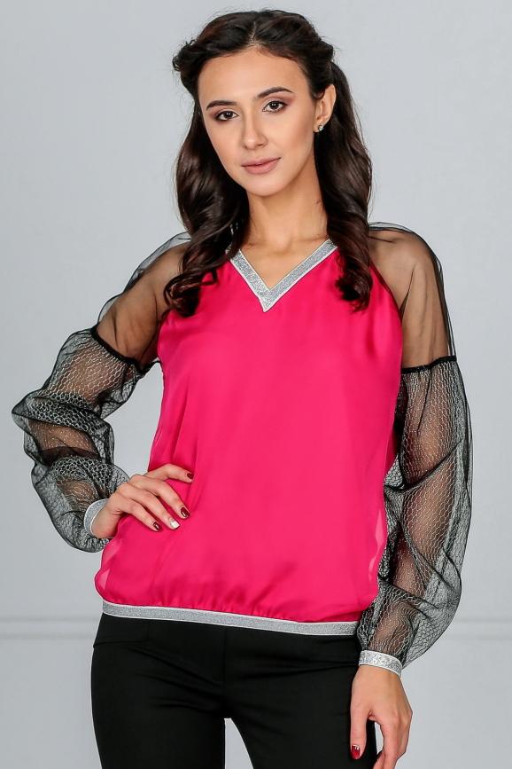 Блуза малинового цвета kl  182-183|интернет-магазин vvlen.com