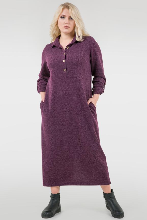 Платье рубашка фиолетового цвета |интернет-магазин vvlen.com