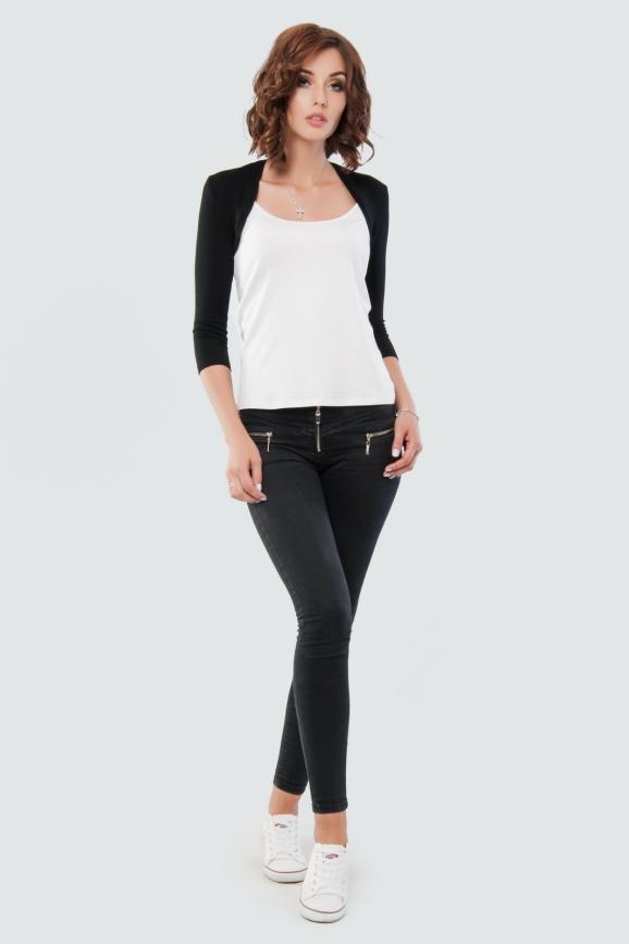 Болеро  черного цвета 1261.14|интернет-магазин vvlen.com