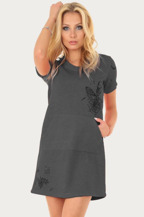 Спортивное платье  хаки цвета 2250.67|интернет-магазин vvlen.com