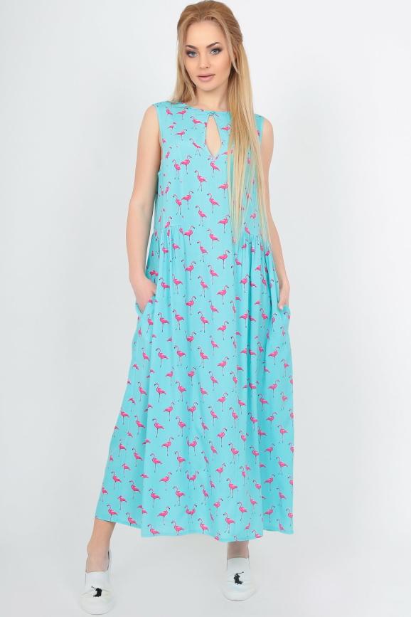 Летнее платье оверсайз мятного цвета|интернет-магазин vvlen.com