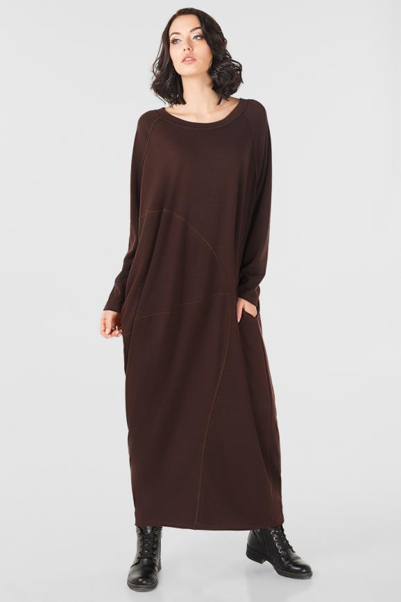 Платье оверсайз шоколадного цвета it 227|интернет-магазин vvlen.com