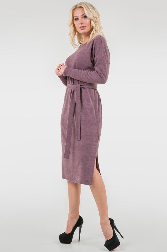 Повседневное платье  мешок фрезового цвета 2737.92|интернет-магазин vvlen.com