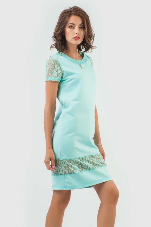 Спортивное платье  бирюзового цвета|интернет-магазин vvlen.com