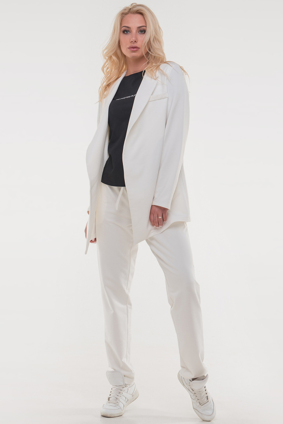 Прогулочный костюм белого цвета 086|интернет-магазин vvlen.com
