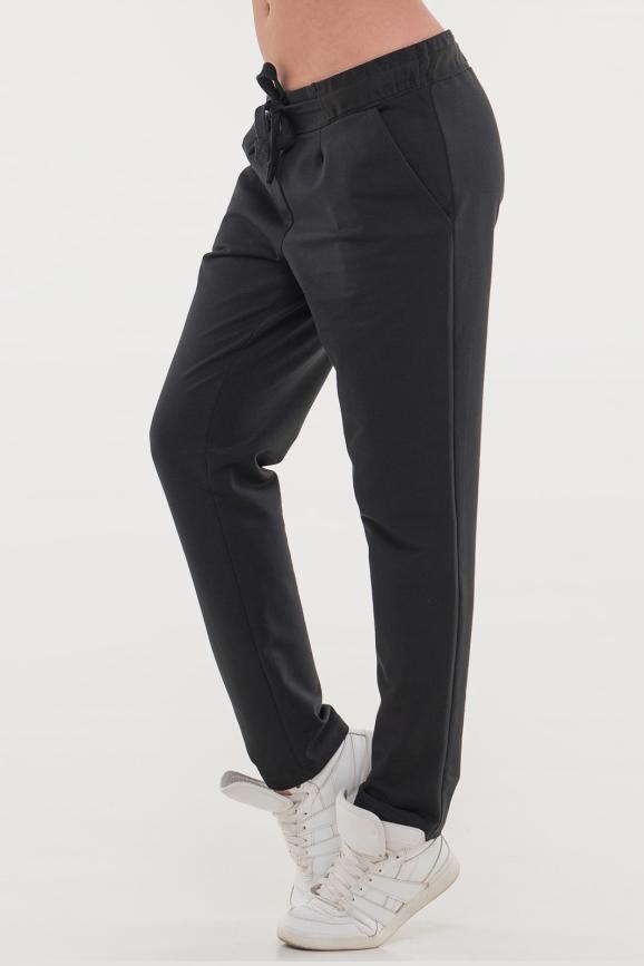 Спортивные брюки черного цвета 089|интернет-магазин vvlen.com