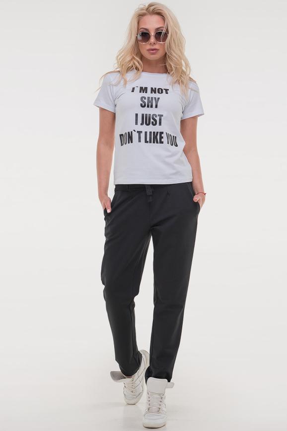 Женская футболка белого цвета i am not|интернет-магазин vvlen.com