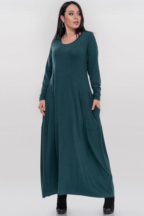 Платье оверсайз зеленого цвета 2858.17|интернет-магазин vvlen.com