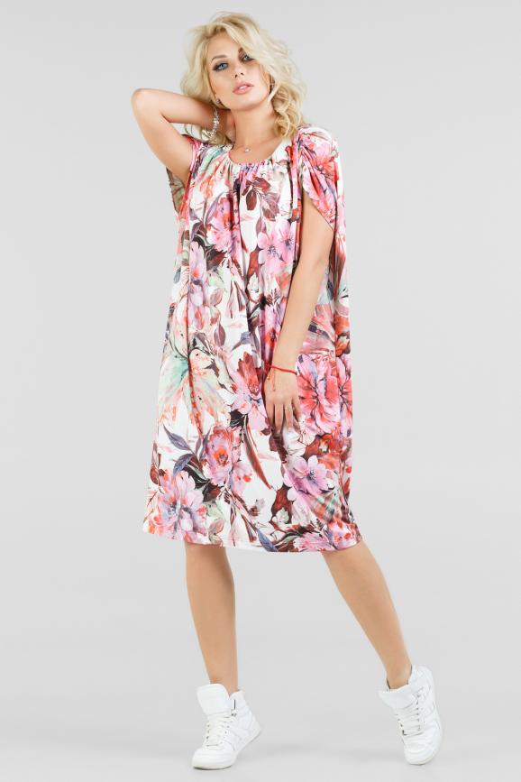 Свободное летнее платье с цветочным принтом|интернет-магазин vvlen.com