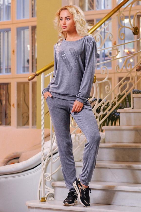 Домашний костюм серого цвета 2238.65|интернет-магазин vvlen.com