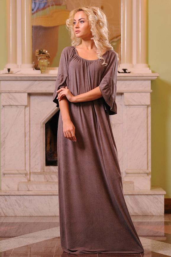 Платье оверсайз капучино цвета|интернет-магазин vvlen.com