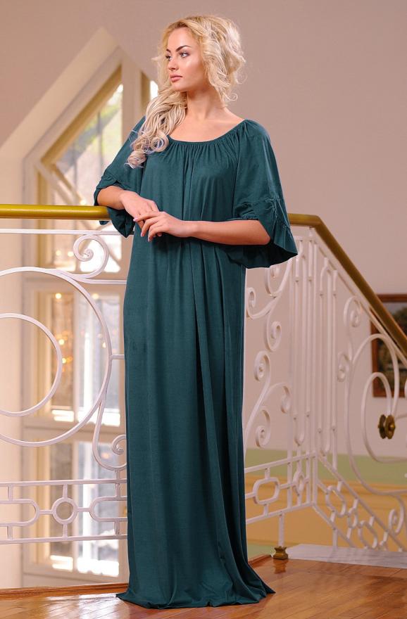 Платье оверсайз темно-зеленого цвета 2423.86 интернет-магазин vvlen.com
