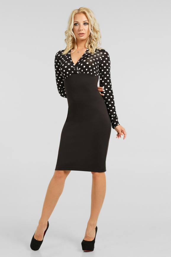 Классическое платье в горох|интернет-магазин vvlen.com
