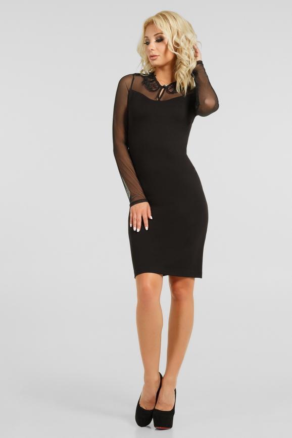Эффектное платье с декором интернет-магазин vvlen.com