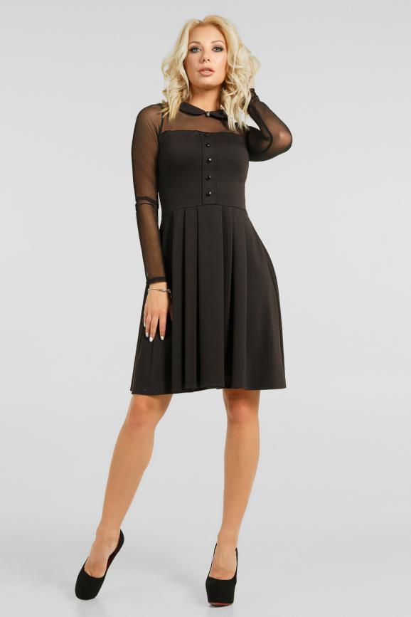 Эффектное платье с сеткой|интернет-магазин vvlen.com