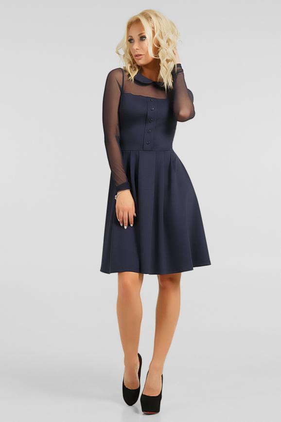 Оригинальное платье с сеткой интернет-магазин vvlen.com