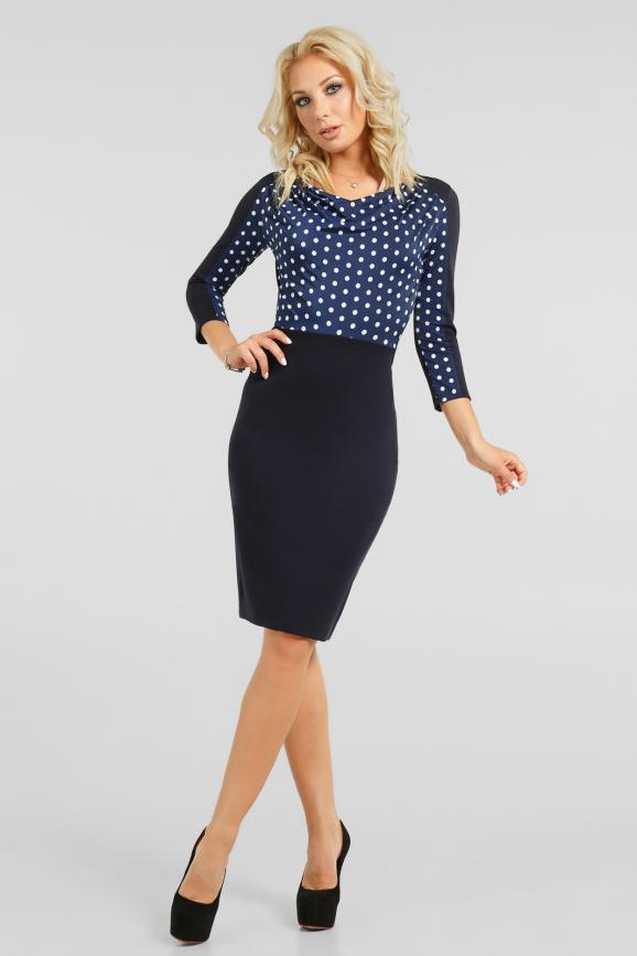 Двухцветное деловое платье|интернет-магазин vvlen.com