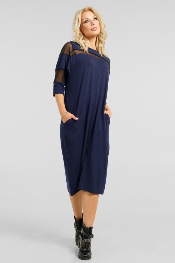 Стильное платье с сеткой|интернет-магазин vvlen.com