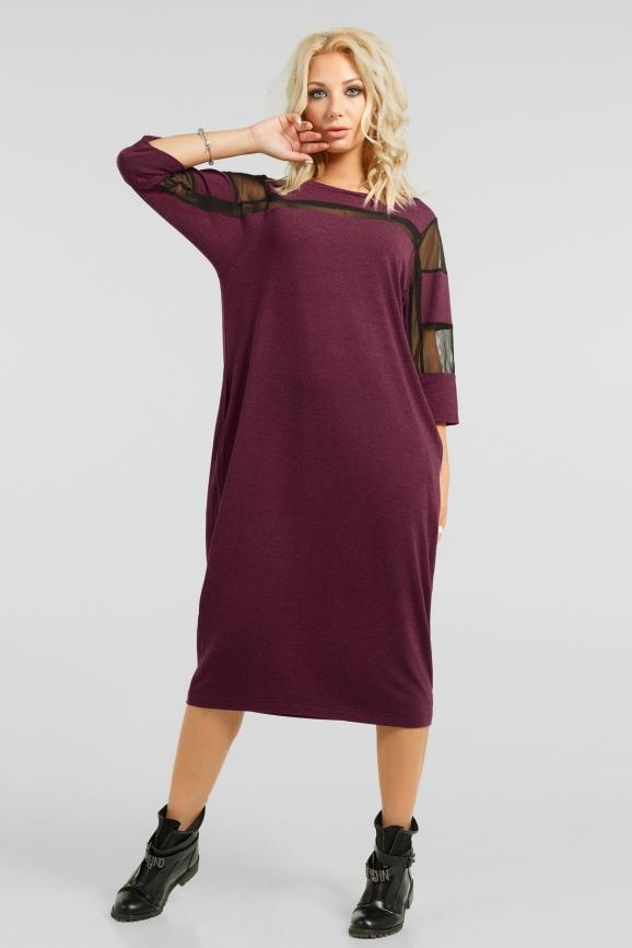 Комфортное платье-миди|интернет-магазин vvlen.com