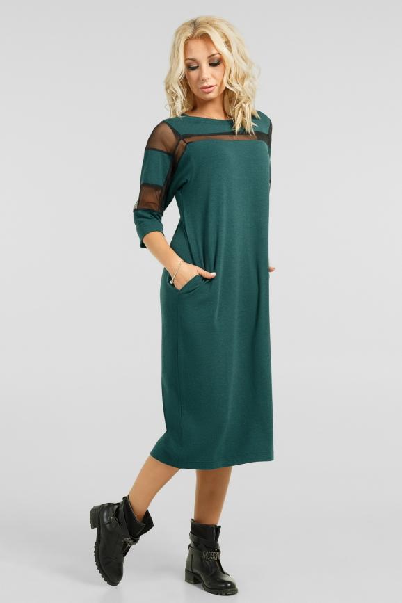 Интересное платье с сеткой|интернет-магазин vvlen.com