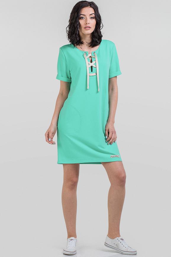 Спортивное платье  мятного цвета 2615-2.79|интернет-магазин vvlen.com