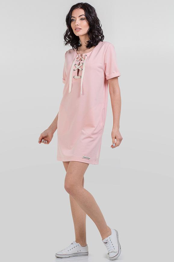 Летнее спортивное платье пудры цвета|интернет-магазин vvlen.com