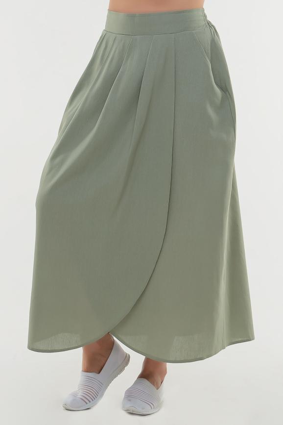 Юбка расклешенная оливкового цвета|интернет-магазин vvlen.com