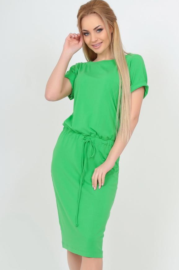 Летнее платье футляр зеленого цвета|интернет-магазин vvlen.com
