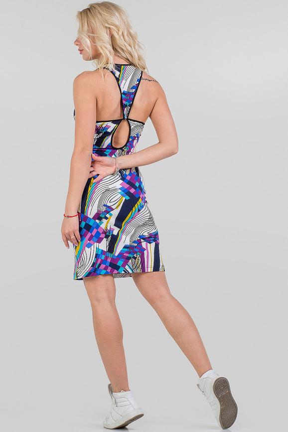 Летнее платье майка белого с синим цвета 1078.17|интернет-магазин vvlen.com