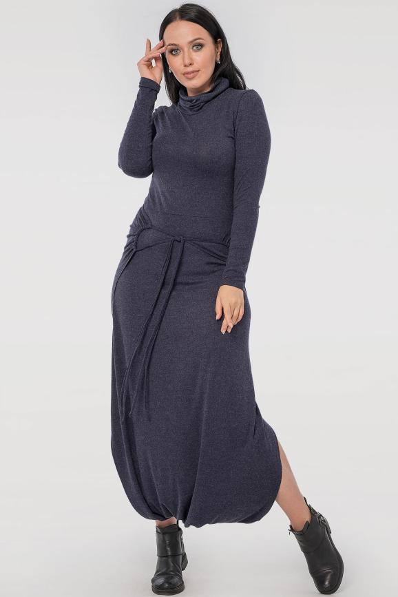 Женский комбинезон брючный синего цвета|интернет-магазин vvlen.com