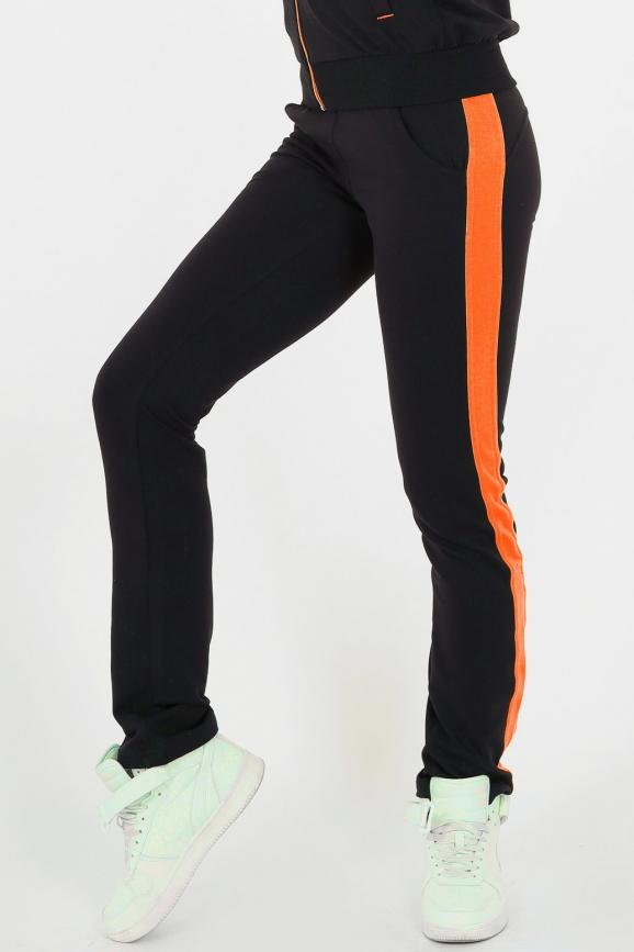 Спортивные брюки черного с бежевым цвета|интернет-магазин vvlen.com