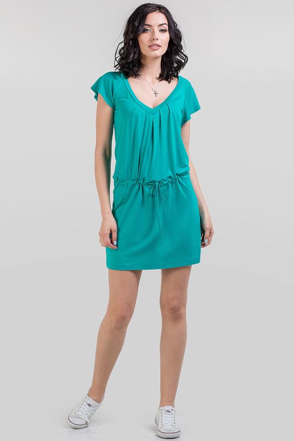 Летнее спортивное платье бирюзового цвета 586.17 интернет-магазин vvlen.com