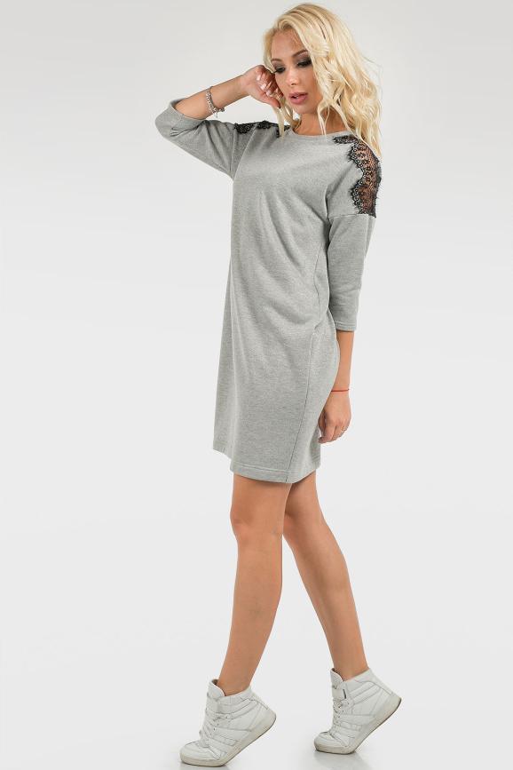 Спортивное платье  серого цвета 2726.97 интернет-магазин vvlen.com