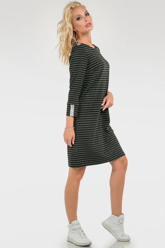 Оригинальное платье в полоску|интернет-магазин vvlen.com