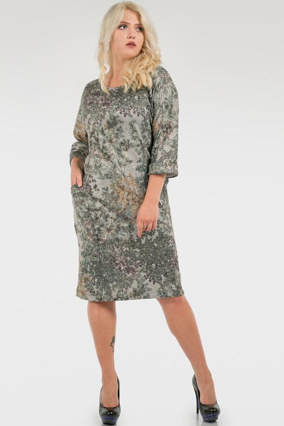 Платье футляр зеленого тона цвета 2728.103|интернет-магазин vvlen.com