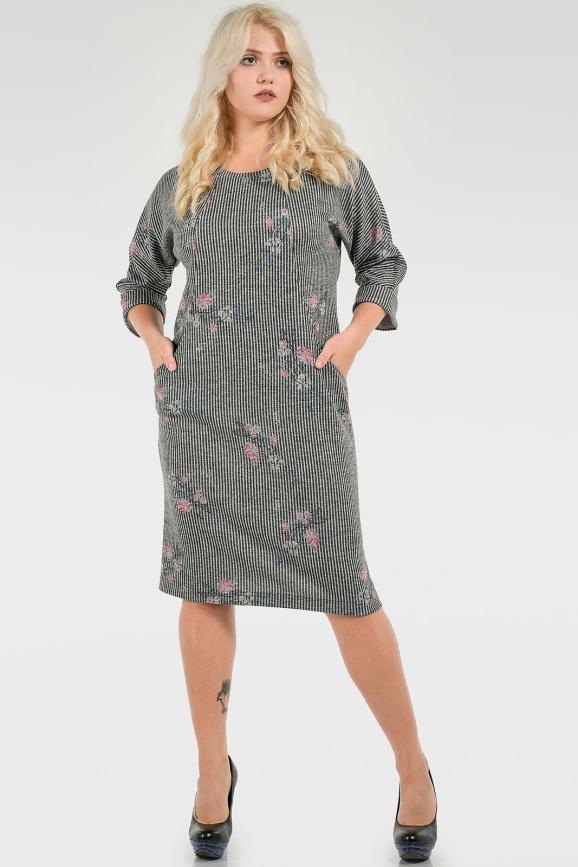 Удобное трикотажное платье интернет-магазин vvlen.com