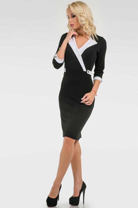 Классическое офисное платье|интернет-магазин vvlen.com